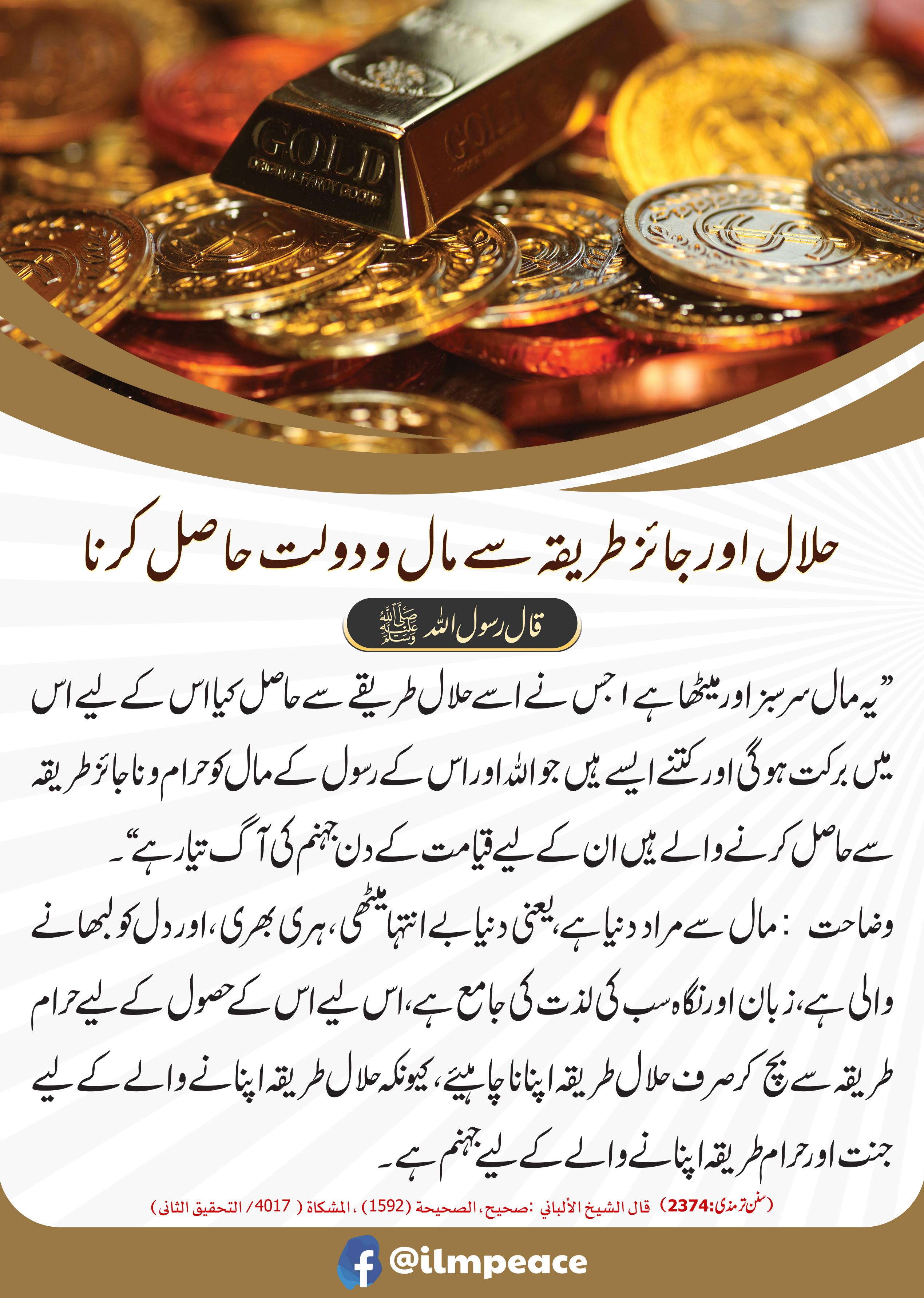 حلال اور جائز طریقہ سے مال و دولت حاصل کرنا JPG.jpg